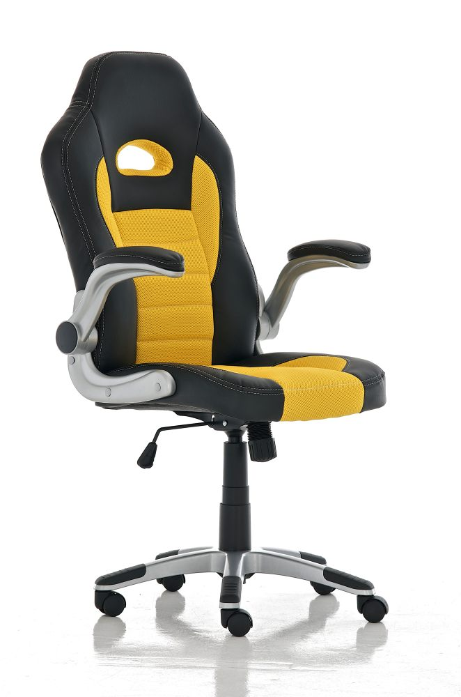 Kancelářská židle Iris, černá / žlutá
