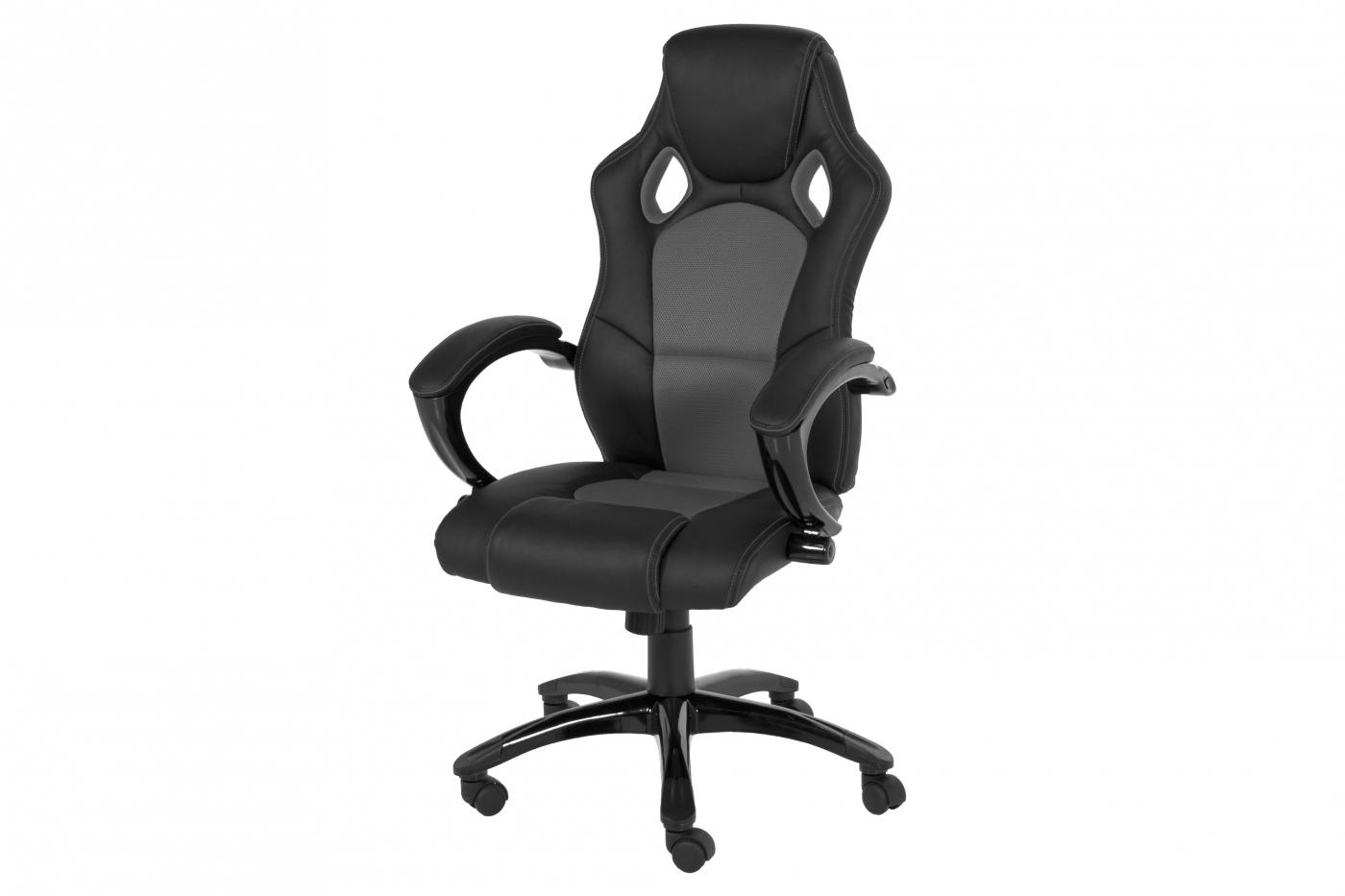 Kancelářská židle Kalyssa, černá / šedá