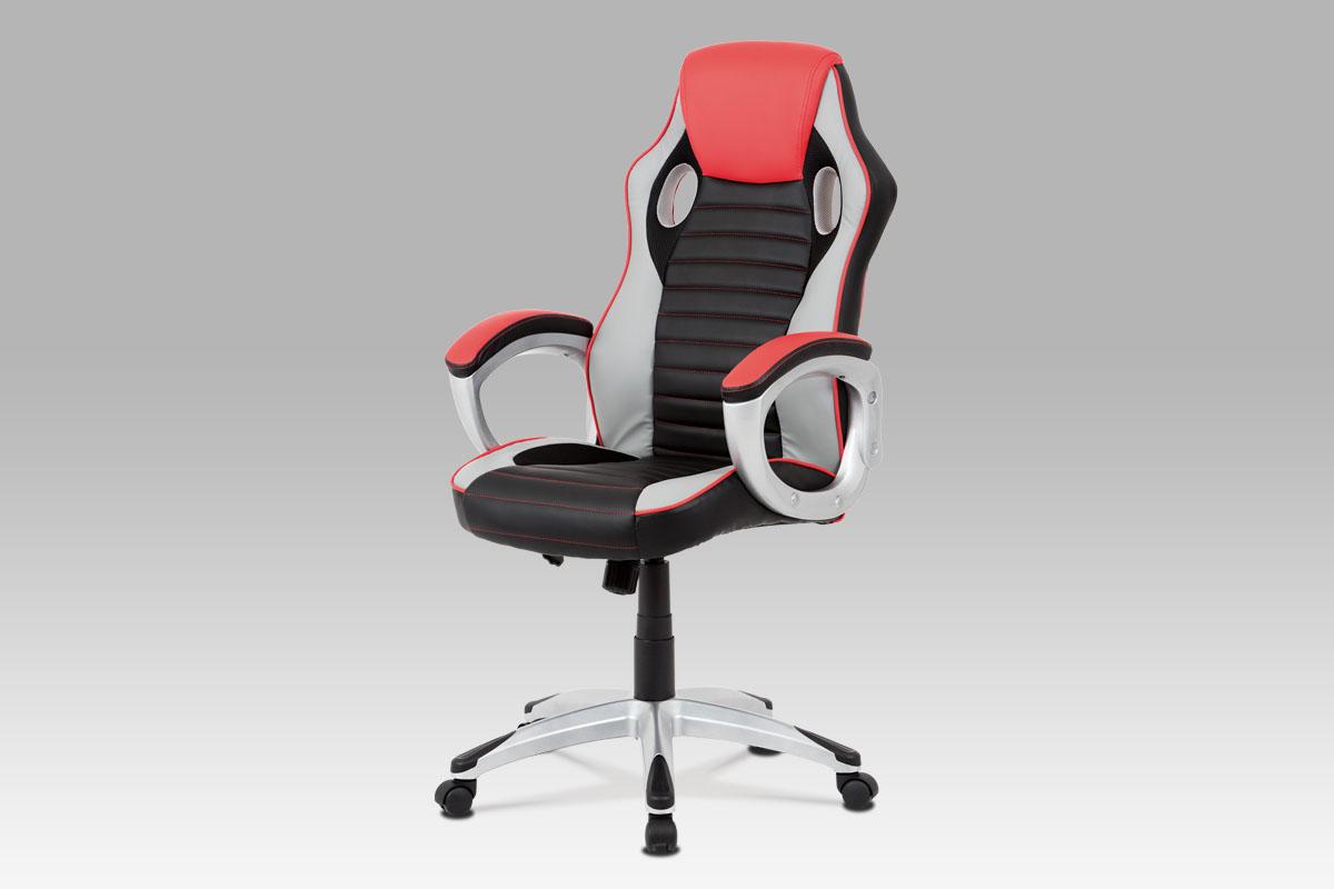 Kancelářská židle Lois, černá / červená