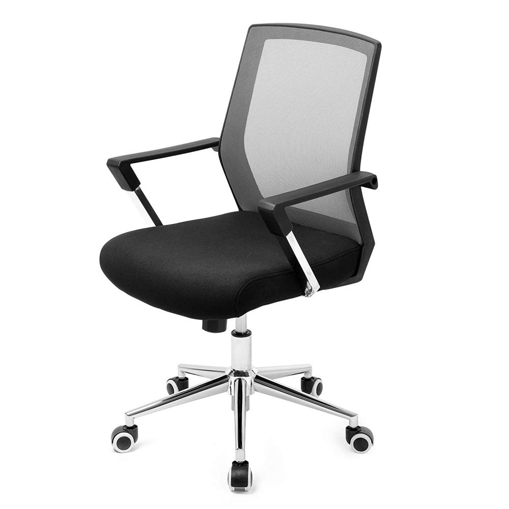 Kancelářská židle Luna, černá / šedá