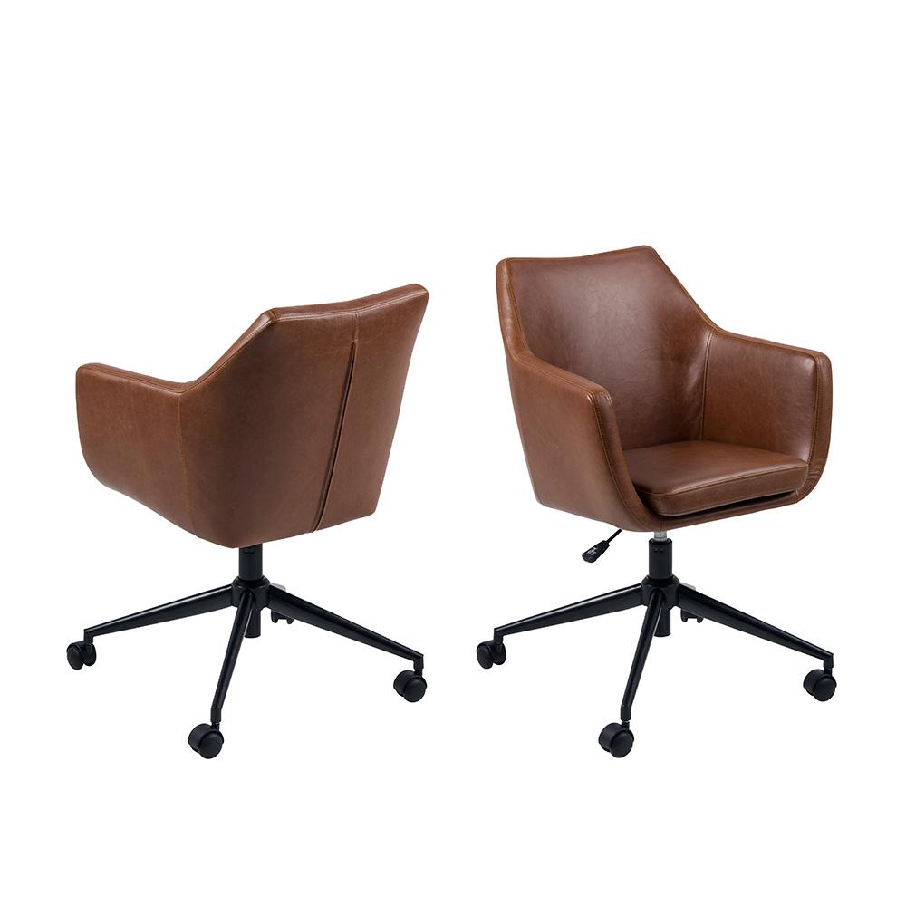 Kancelářská židle Marte, koňaková