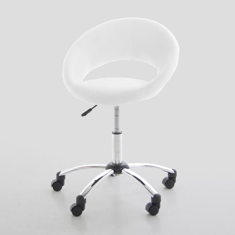 Kancelářská židle na kolečkách Sunny bílá