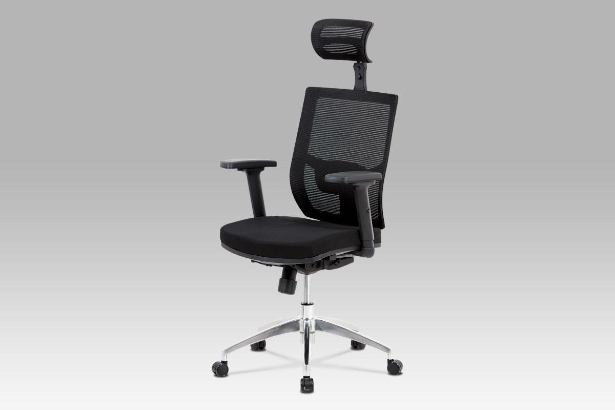 Kancelářská židle o opěrkou hlavy Emma, černá