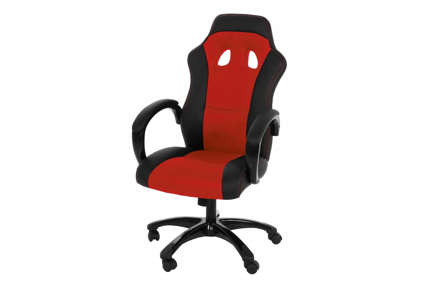 Kancelářská židle Otterly, černá / červená