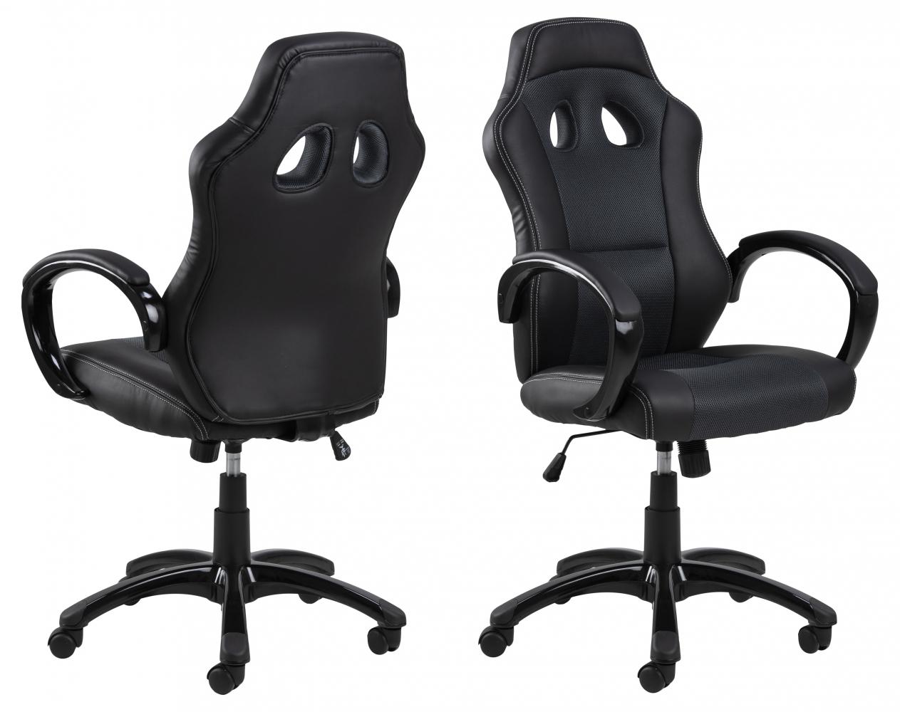 Kancelářská židle Otterly, černá / šedá