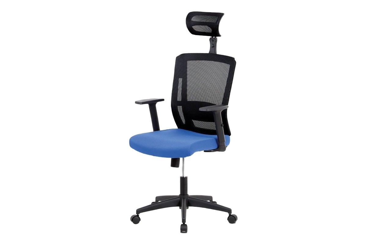 Kancelářská židle s opěrkou hlavy Hugo, modrá/černá