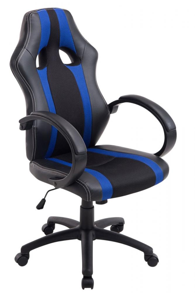 Kancelářská židle Velvet, černá / modrá
