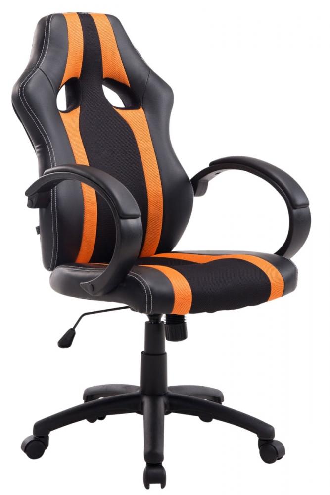 Kancelářská židle Velvet, černá / oranžová