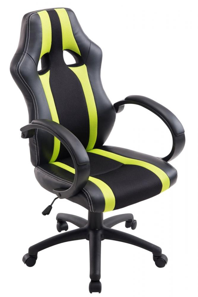 Kancelářská židle Velvet, černá / zelená