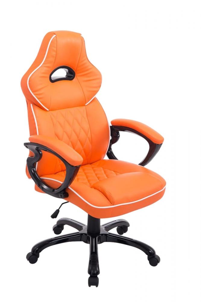 Kancelářské křeslo BIG XXX, syntetická kůže, oranžová