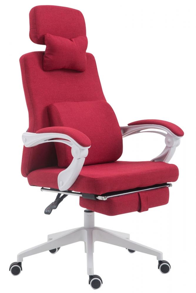 Kancelářské křeslo Byron, textil, červená