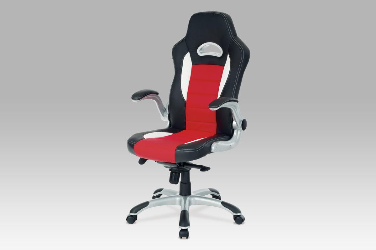 Kancelářské křeslo Race, černá/červená