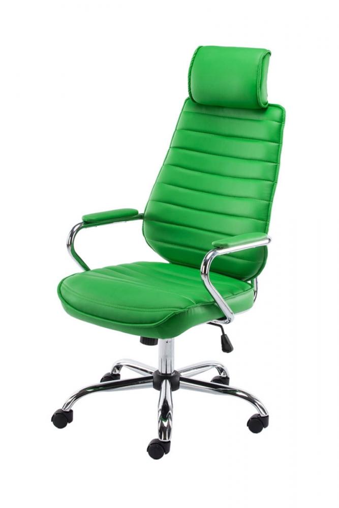 Kancelářské křeslo Rako, syntetická kůže, zelená