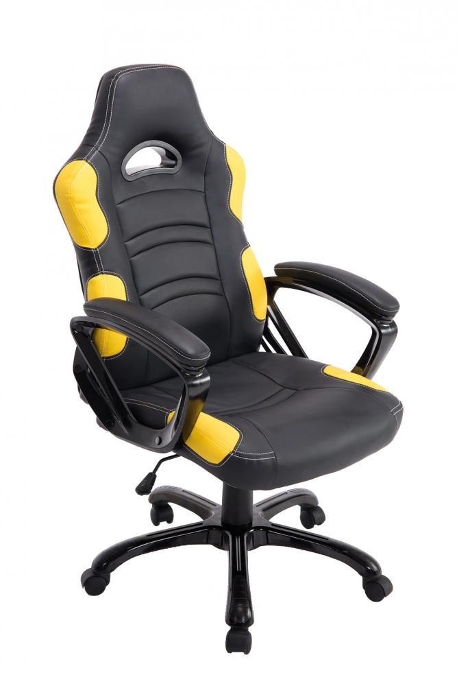 Kancelářské křeslo Ricardo, černá / žlutá