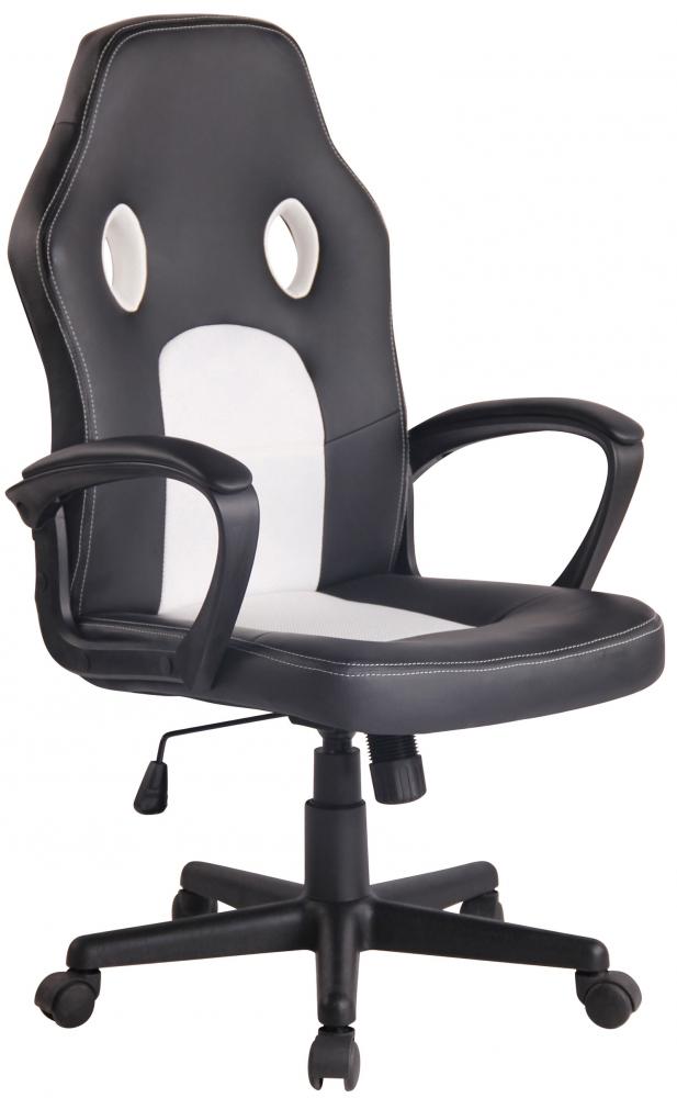 Kancelářské křeslo Ronald, černá / bílá