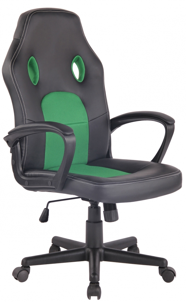Kancelářské křeslo Ronald, černá / zelená