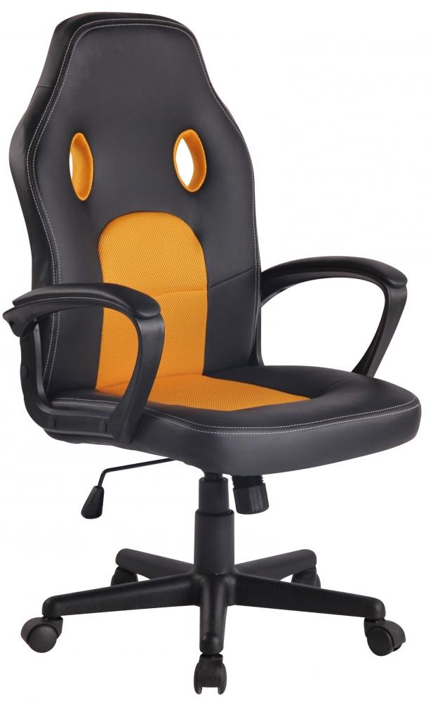 Kancelářské křeslo Ronald, černá / žlutá