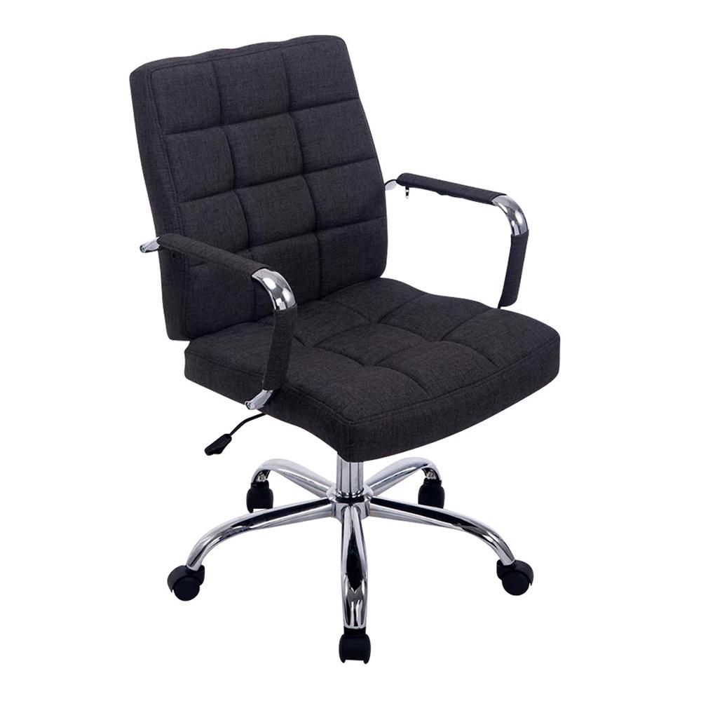 Kancelářské křeslo s područkami Lina 2 textil tmavě šedá