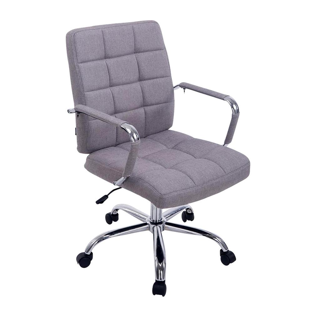 Kancelářské křeslo s područkami Lina 2 textil šedá