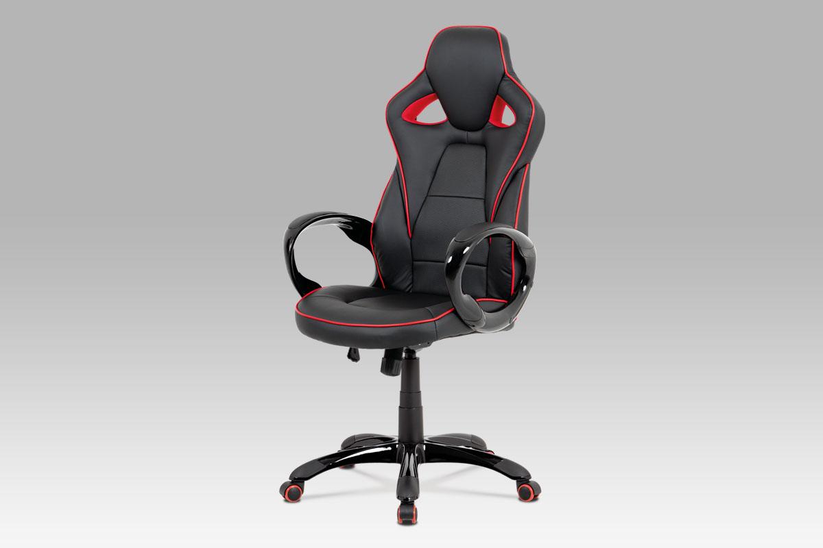 Kancelářské křeslo Seat, černá/červená