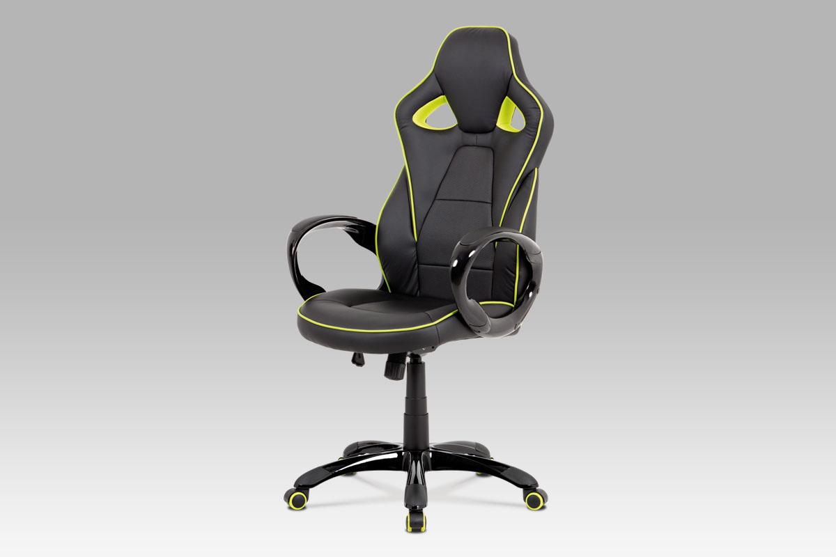 Kancelářské křeslo Seat, černá/zelená