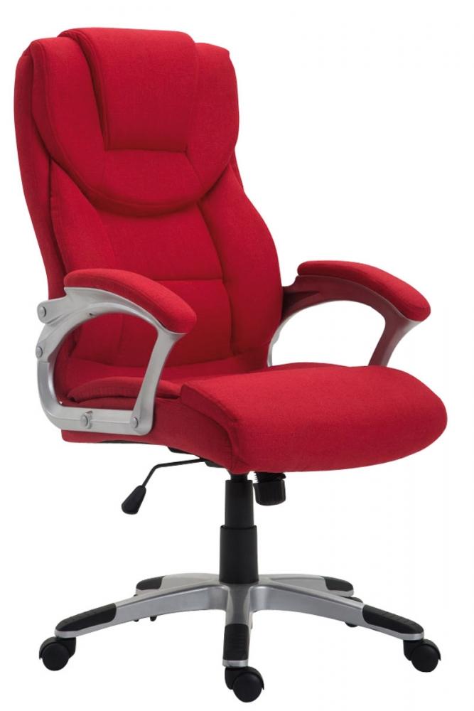 Kancelářské křeslo Texas, textil, červená