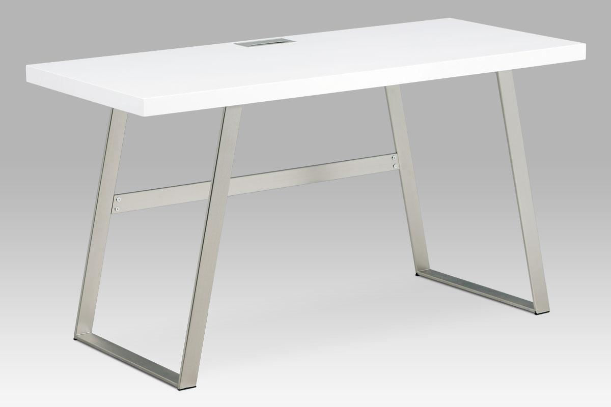 Kancelářský stůl Roland, 140 cm, bílá/nikl