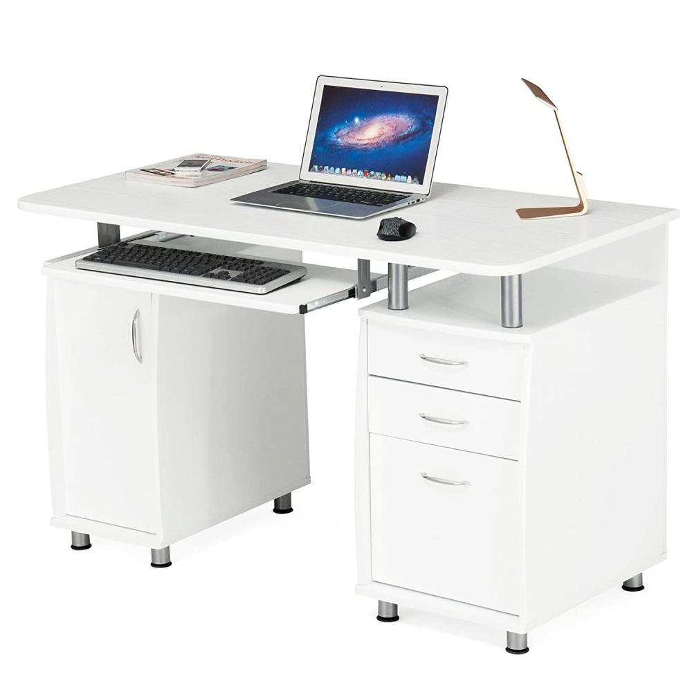 Kancelářský stůl Ronnie, 121 cm, bílá