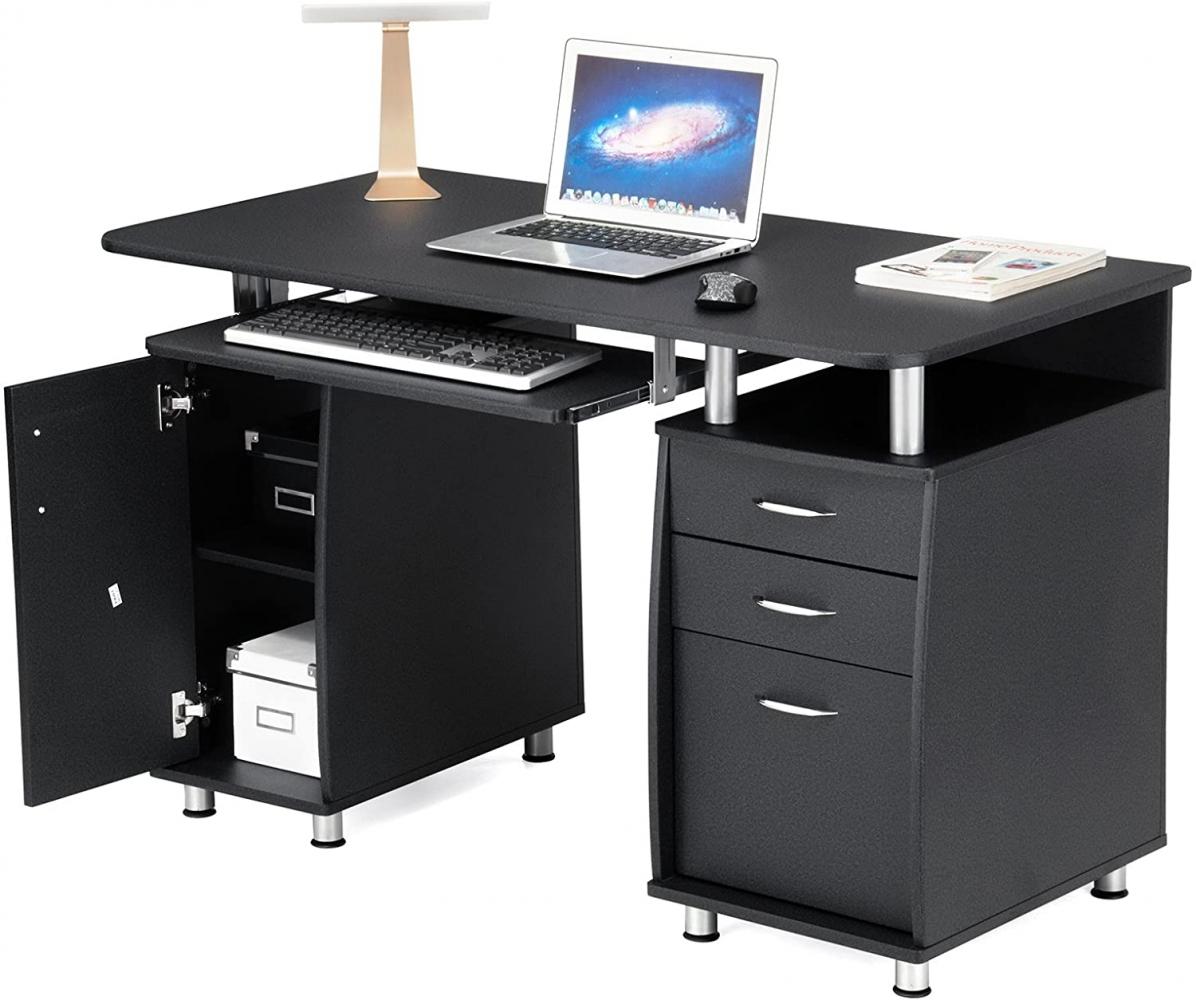 Kancelářský stůl Ronnie, 121 cm, černá