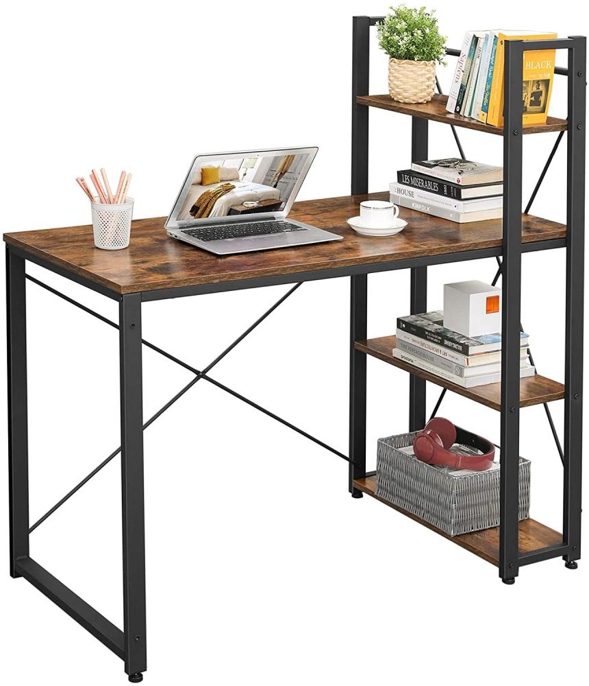 Kancelářský stůl Stella, 120 cm, hnědá / černá