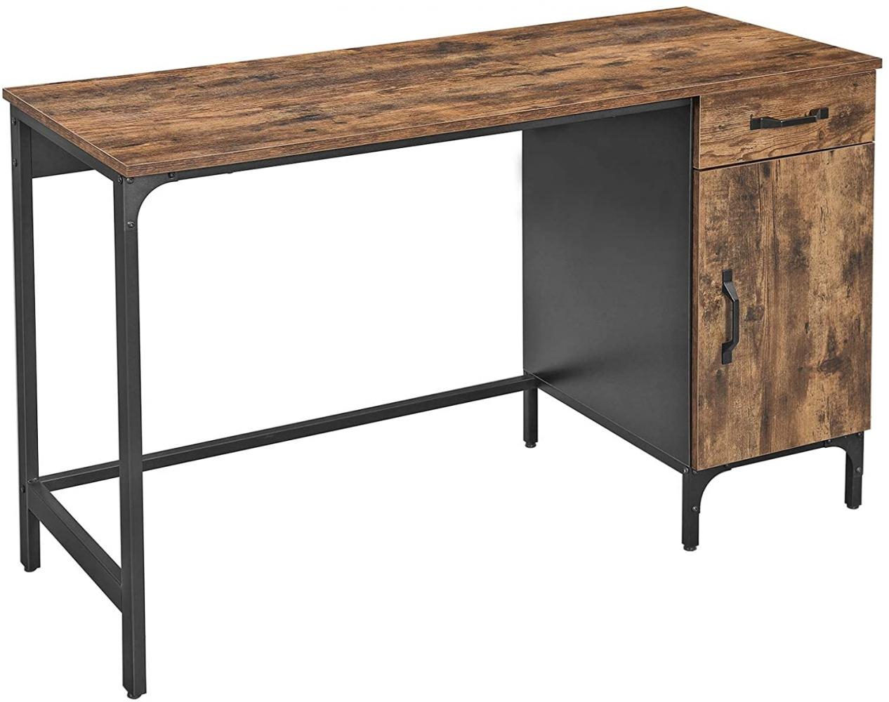 Kancelářský stůl Stella, 130 cm, hnědá / černá