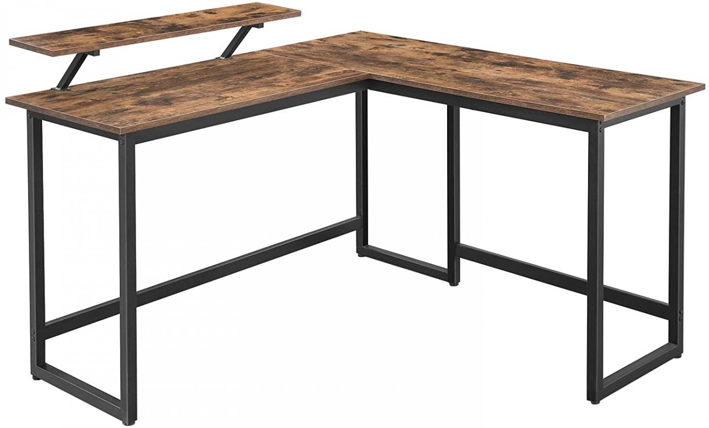 Kancelářský stůl Stella, 140 cm, hnědá / černá