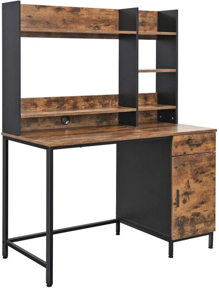 Kancelářský stůl Stella, 153 cm, hnědá / černá