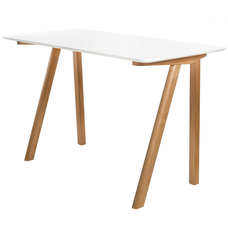 Kancelářský stůl Turn, 120 cm, bílá/dub