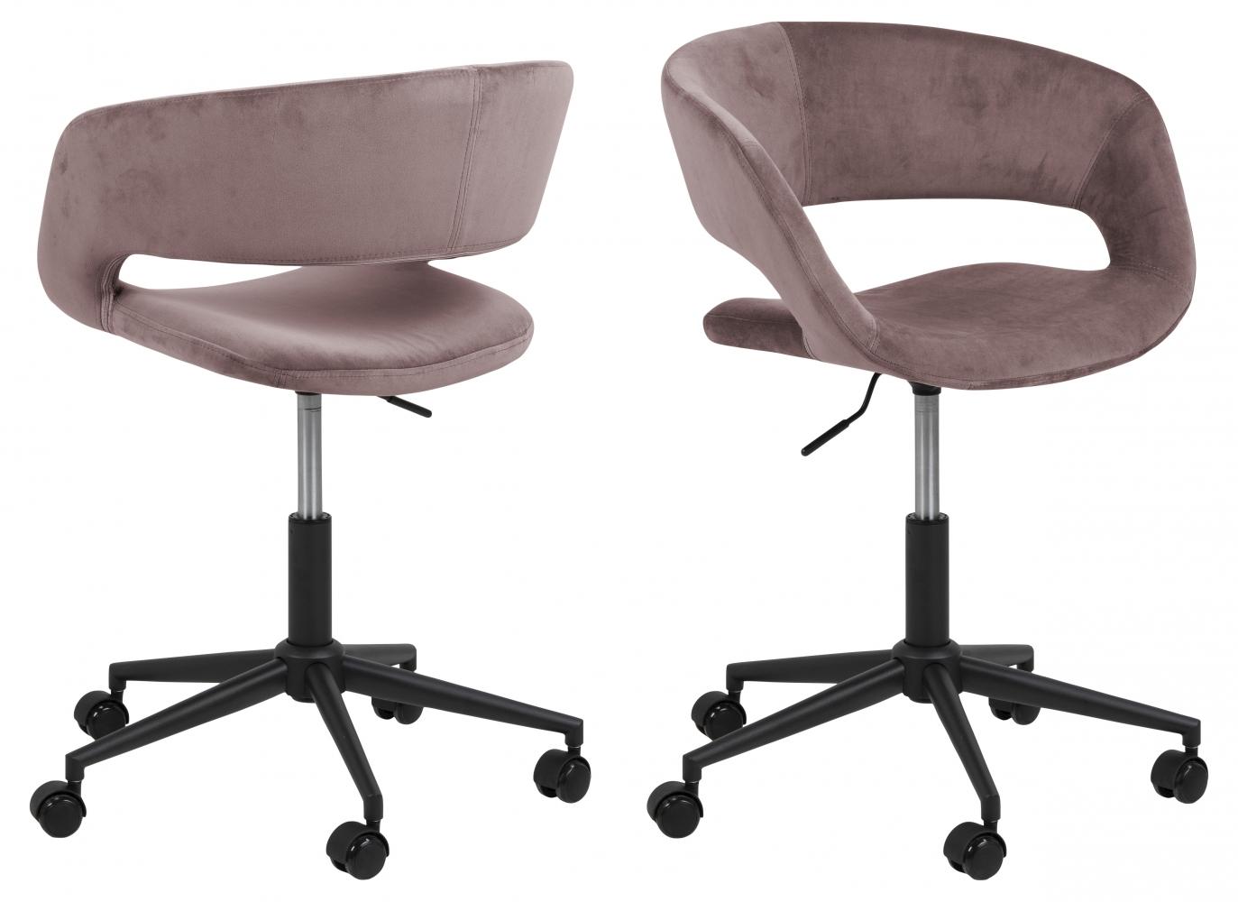 Kanelářská židle Grace, tkanina, růžová