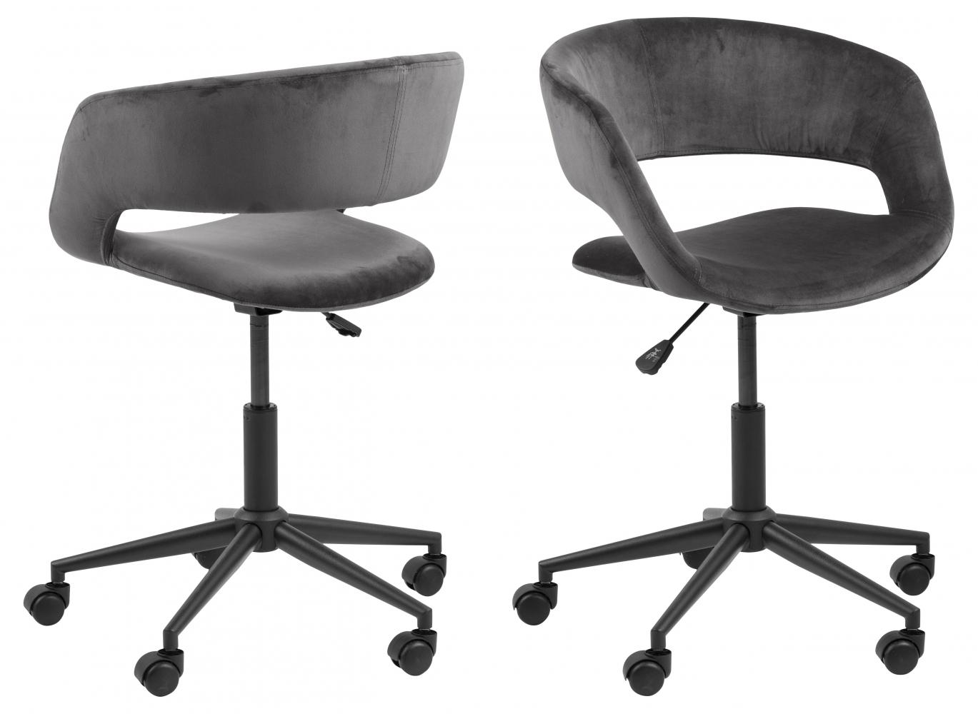 Kanelářská židle Grace, tkanina, šedá