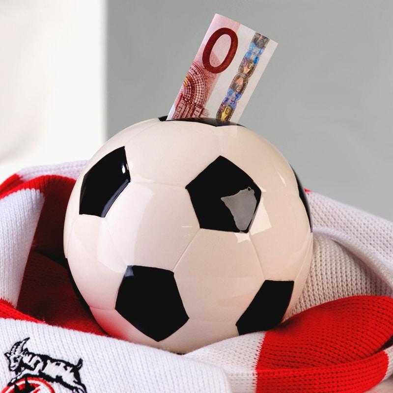 Kasička keramická Football, 11 cm