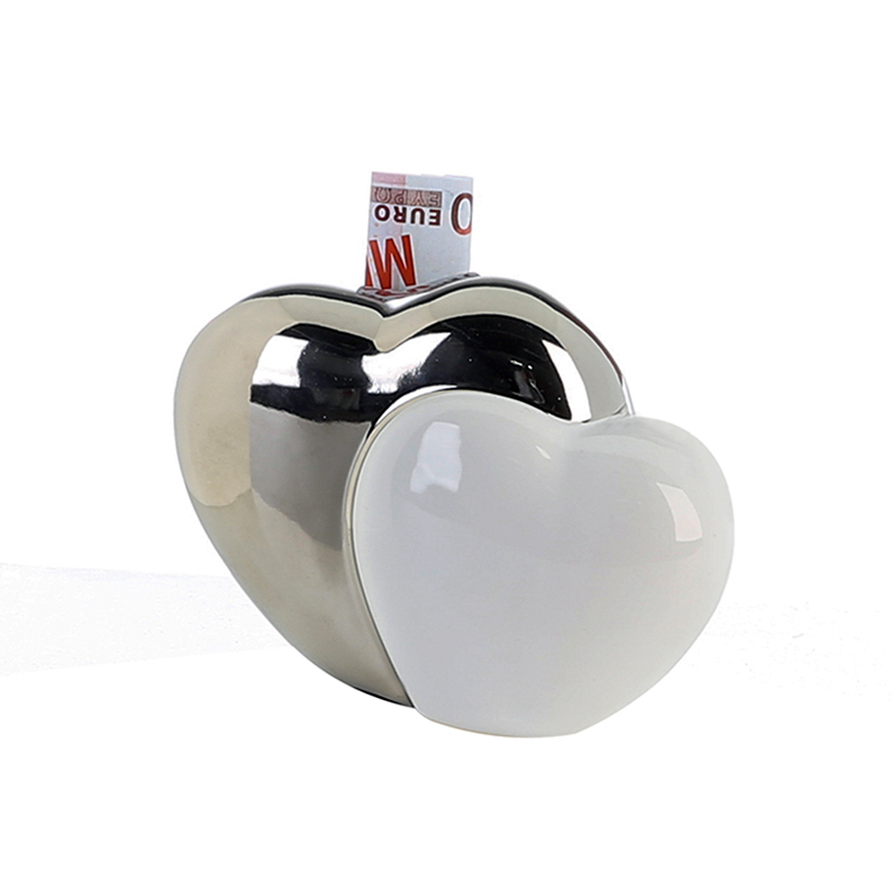 Kasička keramická Srdce, 15 cm