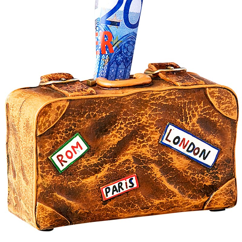 Kasička keramická Suitcase, 14 cm