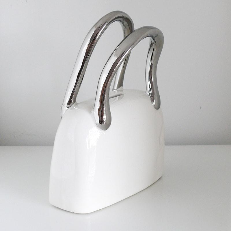 Kasička keramická Taška, 18 cm