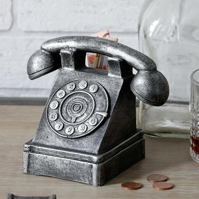 Kasička Old Phone, 15 cm