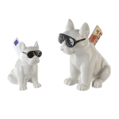Kasička porcelánová Cool dog, 17 cm