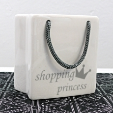 Kasička porcelánová Shopping princess, 9 cm - 2