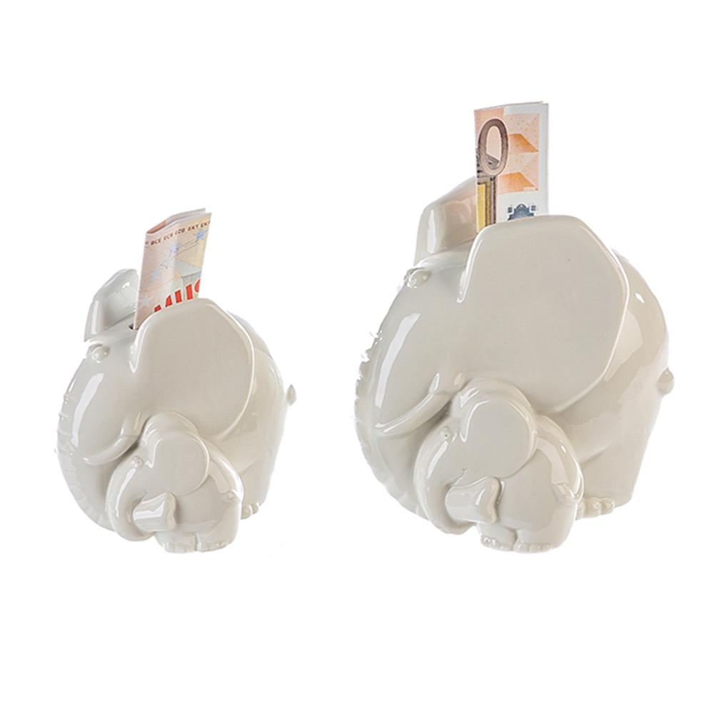 Kasička porcelánová Slon, 15 cm