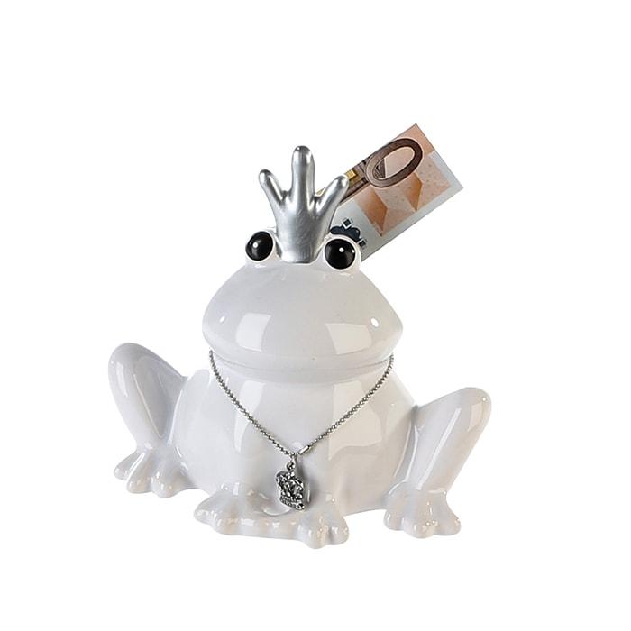Kasička Žába s korunkou, 14 cm