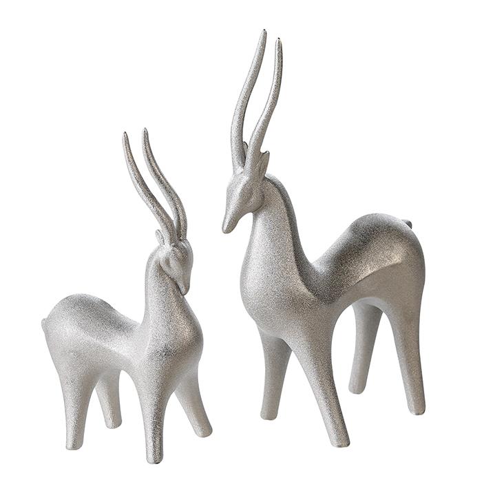Keramická dekorace antilopa Luna, 20 cm