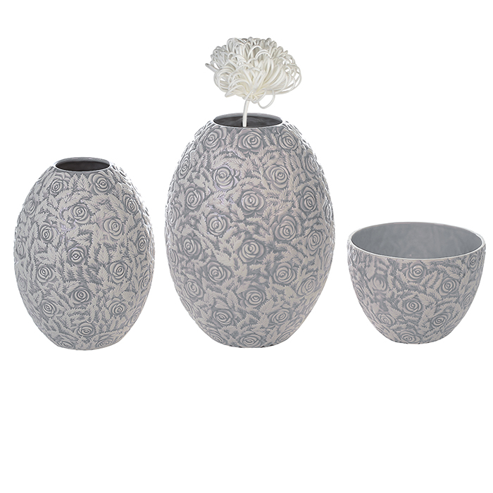 Keramická mísa Jolie, 24 cm, šedá/bílá