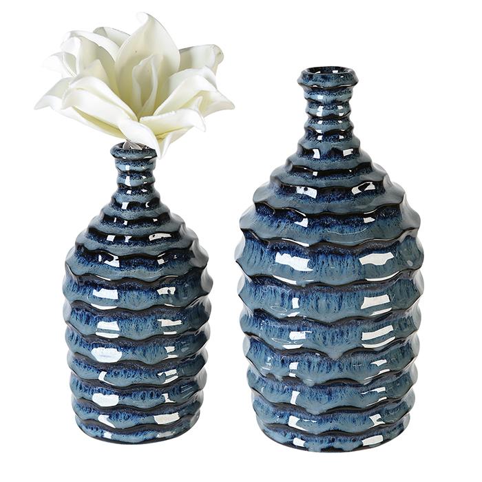 Keramická váza Foggia, 21 cm, modrá