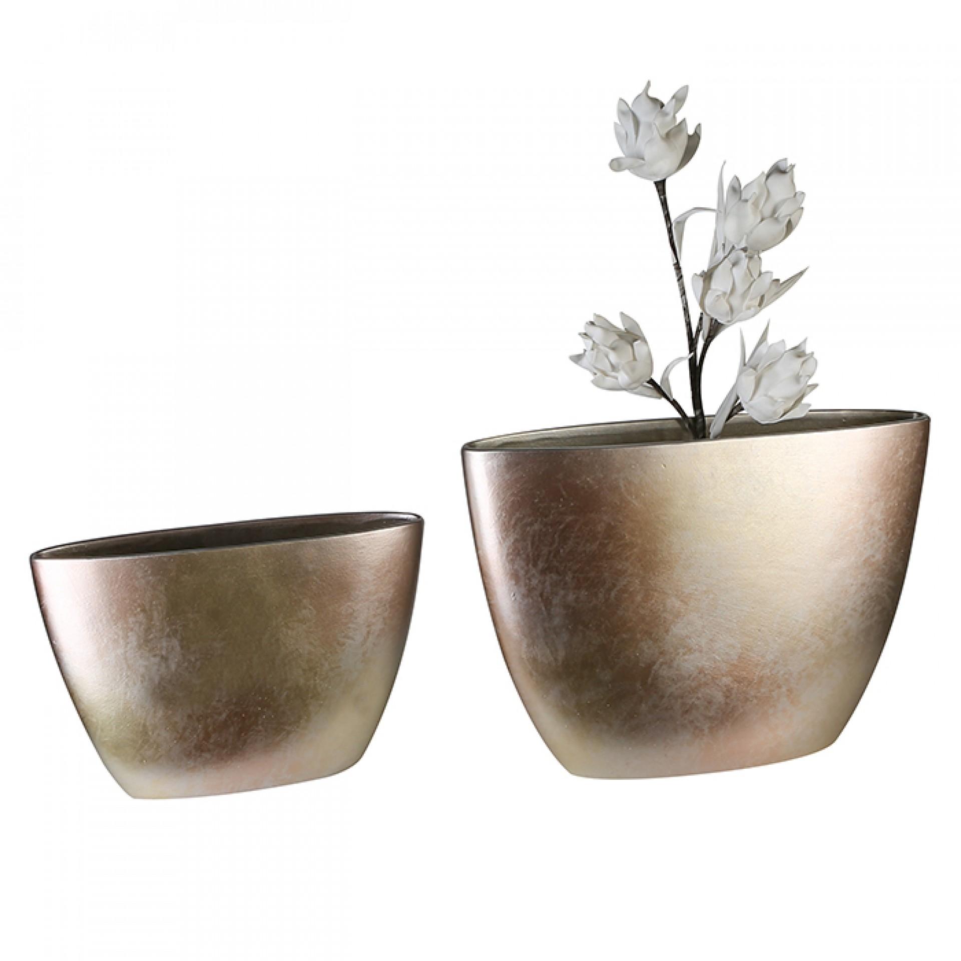 Keramická váza Sunset, 40 cm, zlatá