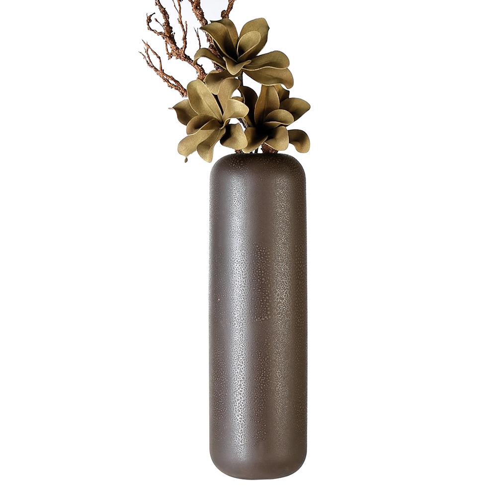 Keramická váza Urban, 56 cm, hnědá